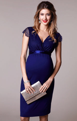 Tiffany Rose Maternity & Nursing Dress Rosa Indigo, Formal Maternity Dresses Toronto GTA Canada,- Luna Maternity & Nursing
