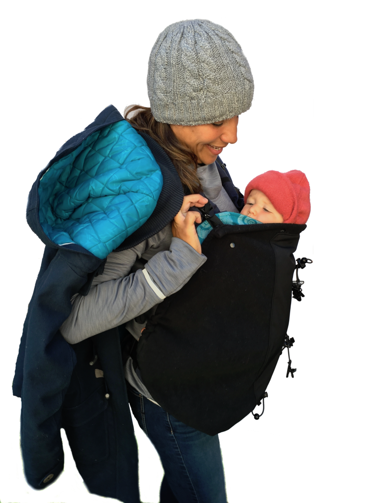 Make My Belly Fit Baby Carrier Cover, Maternity Coats Canada Pregnancy Babywearing Jackets Toronto Alberta,- Luna Maternity & Nursing