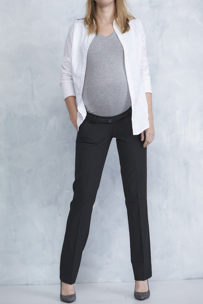 "Queen Mum Straight-leg Maternity City ""Office"" Pants 3610, Best Maternity Pants Pregnancy Trousers Toronto Canada Online,- Luna Maternity & Nursing"
