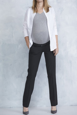 Queen Mum Straight-leg Maternity City Pants 3610, Best Maternity Pants Pregnancy Trousers Toronto Canada Online,- Luna Maternity & Nursing