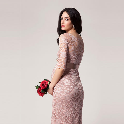 Tiffany Rose Amelia Formal Lace Maternity Dress Vintage Rose, Maternity Dresses Canada Nursing Dresses Canada,- Luna Maternity & Nursing