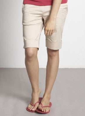 a3db5120a85 Mothers en Vogue Comfy Maternity & Beyond Sateen Shorts, Shorts,- Luna  Maternity &