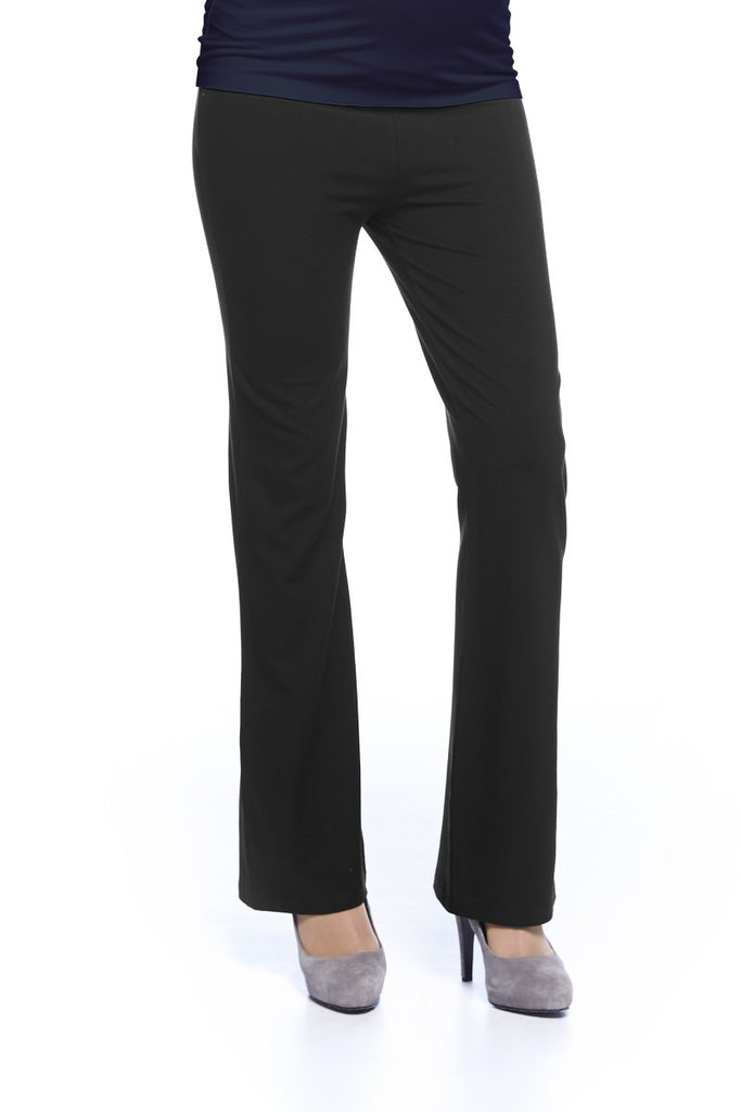 Queen Mum Wide Leg Maternity Trousers 3777, Best Maternity Pants Pregnancy Trousers Toronto Canada Online,- Luna Maternity & Nursing