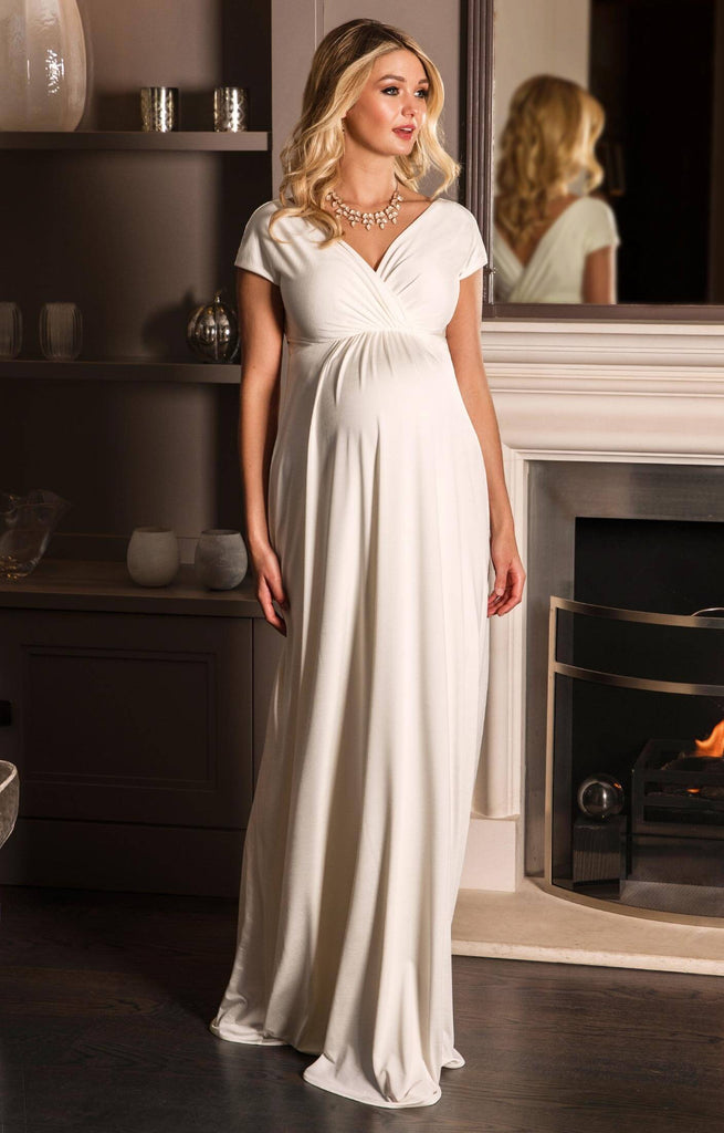 Tiffany Rose Maternity & Nursing Maxi Dress Francesca Ivory