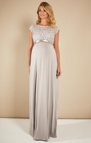 Tiffany Rose Maternity Long Maternity Gown Mia Silver