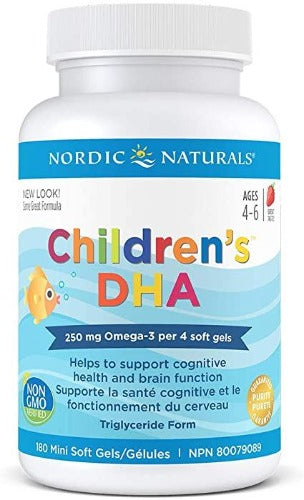 Nordic Naturals Children's DHA Strawberry Chewable Soft Gels Age 3-6
