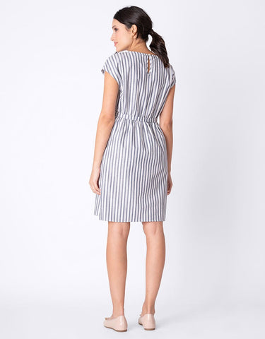 Seraphine Presley Cotton Striped Maternity & Nursing Dress - Size 8, Maternity Dresses Canada Nursing Dresses Canada,- Luna Maternity & Nursing