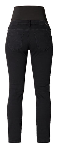 Queen Mum Black Straight Leg Maternity Jeans