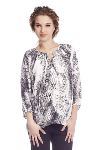 Queen Mum Maternity Dessin Blouse, Maternity Tops Nursing Tops Canada,- Luna Maternity & Nursing