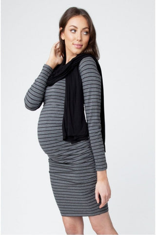 Ripe Maternity Striped Cocoon Dress - Size Small, Maternity Dresses Canada Nursing Dresses Canada,- Luna Maternity & Nursing