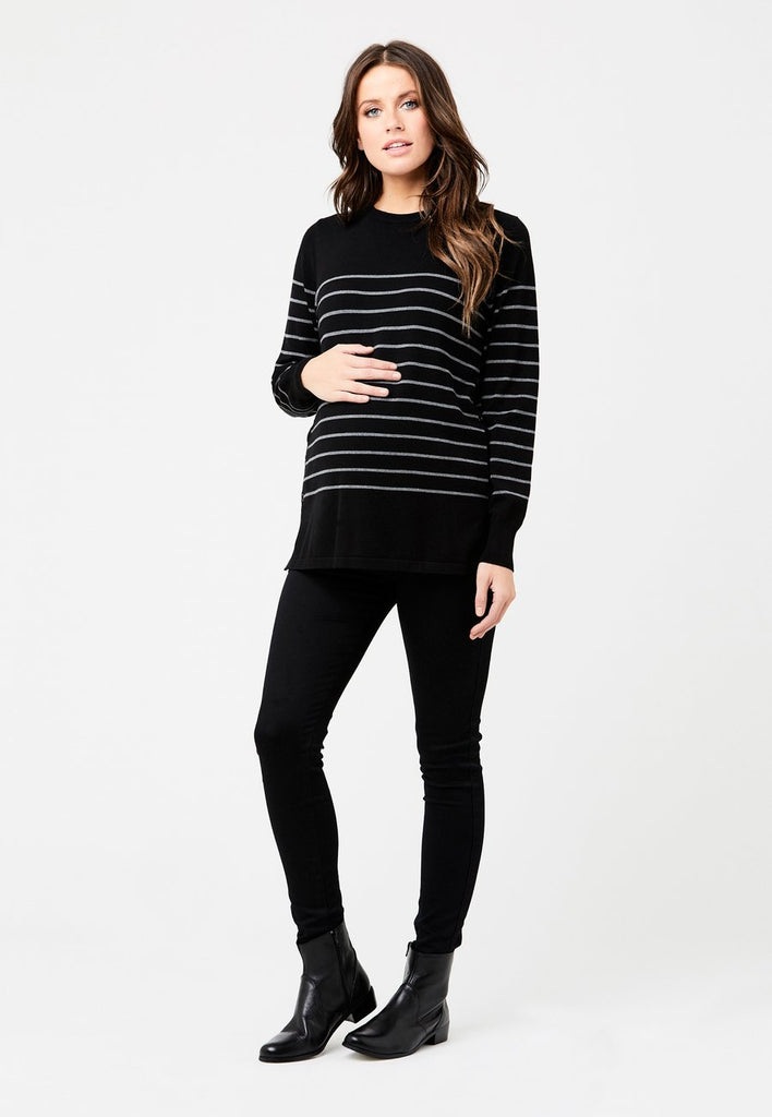 Ripe Button Up Stripe Maternity & Nursing Knit Top, Maternity Tops Nursing Tops Canada,- Luna Maternity & Nursing