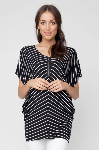 Ripe Maternity Zoom Zip Up Maternity & Nursing Tunic Top