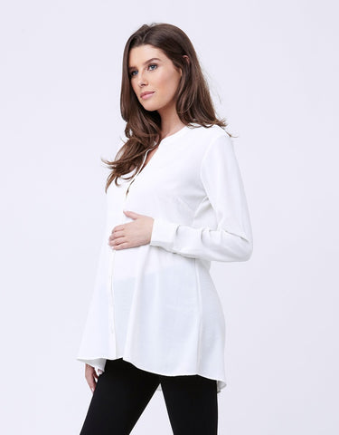 Ripe Maternity & Nursing Peplum Shirt, Maternity Tops Nursing Tops Canada,- Luna Maternity & Nursing