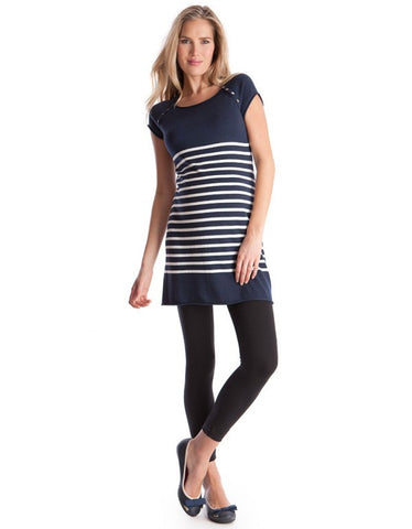 Seraphine Maternity & Nursing Nautical Knit Tunic - Size 4 Cdn, Maternity Tops Nursing Tops Canada,- Luna Maternity & Nursing