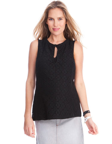 Seraphine Keyhole Crochet Lace Maternity & Nursing Top Connie, Maternity Tops Nursing Tops Canada,- Luna Maternity & Nursing
