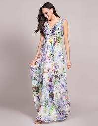 Seraphine Maternity & Nursing Silk Maxi Dress Felicity