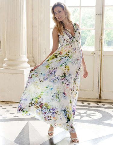 Seraphine Maternity & Nursing Silk Maxi Dress Felicity, Maternity Dresses Canada Nursing Dresses Canada,- Luna Maternity & Nursing