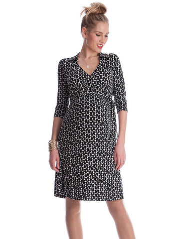 Seraphine Maternity & Nursing Wrap Dress Georgina - Size 6, Maternity Dresses Canada Nursing Dresses Canada,- Luna Maternity & Nursing