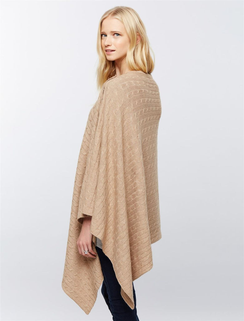 Seraphine Maternity & Nursing Cable Knit Shawl Caleb, Accessories,- Luna Maternity & Nursing
