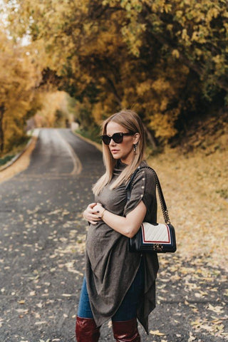 Seraphine Bamboo Maternity & Nursing Shawl Madison BESTSELLER Brown, Maternity Tops Nursing Tops Canada,- Luna Maternity & Nursing