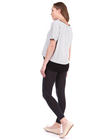 Seraphine Monochrome Layered Maternity & Nursing Top Sonya, Maternity Tops Nursing Tops Canada,- Luna Maternity & Nursing