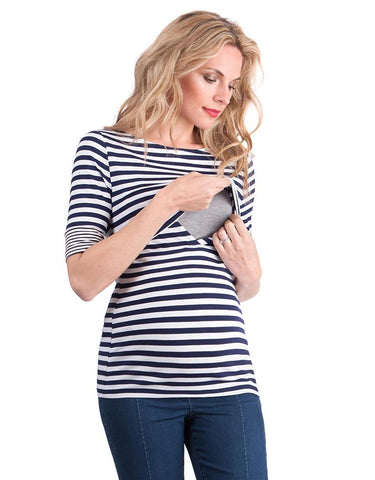 Seraphine Nautical Maternity & Nursing Top Lovelle, Maternity Tops Nursing Tops Canada,- Luna Maternity & Nursing