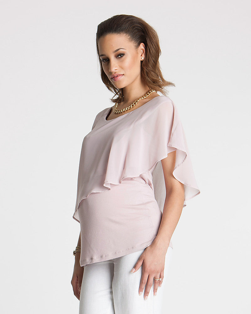 Seraphine Pink Blush Maternity & Nursing Top Meredith, Maternity Tops Nursing Tops Canada,- Luna Maternity & Nursing
