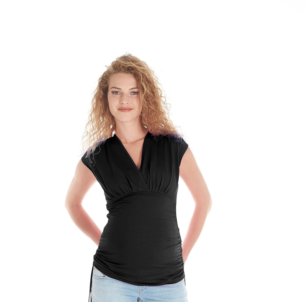 Queen Mum Maternity & Nursing Top, Maternity Tops Nursing Tops Canada,- Luna Maternity & Nursing