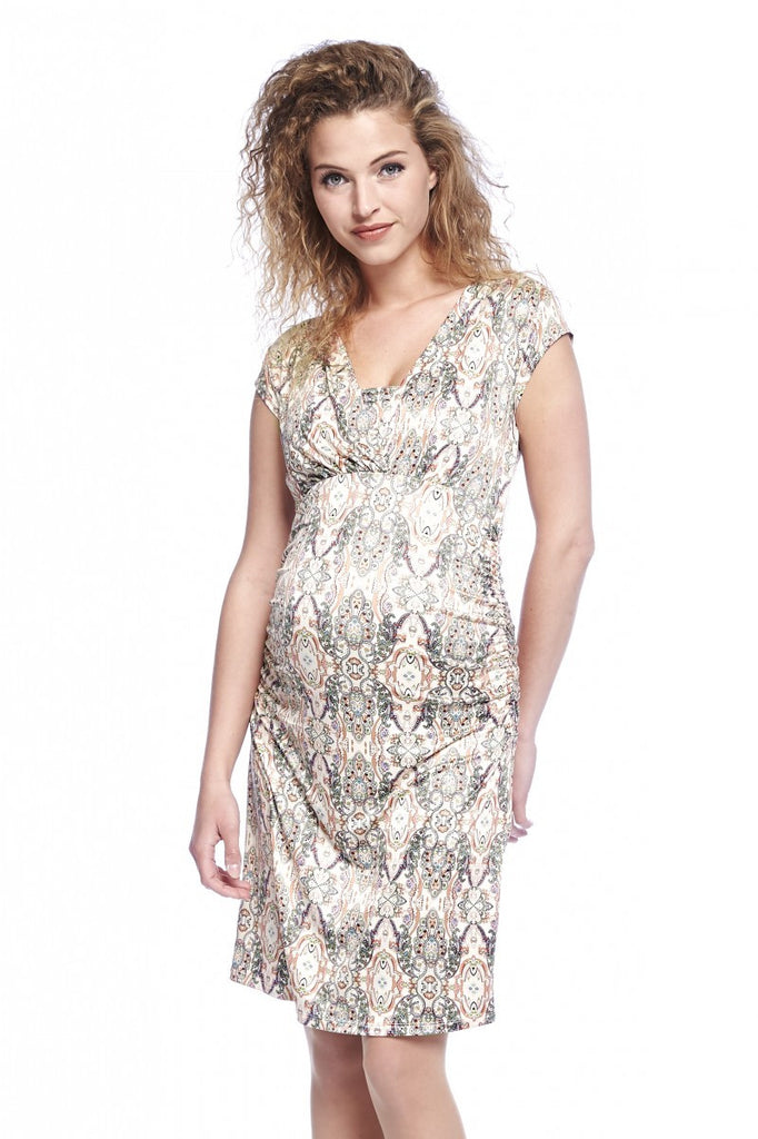 hot sales undefeated x excellent quality Queen Mum Maternity & Nursing Paisley Print Dress - Size XS