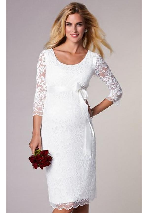 8a43646f72700 Tiffany Rose White Lace Bridal Maternity Dress Katie Canada Free Ship