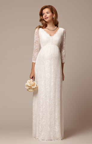 Tiffany Rose Ivory Lace Maternity Gown Chloe, Maternity Dresses Canada Nursing Dresses Canada,- Luna Maternity & Nursing