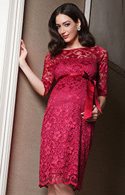 Tiffany Rose Amelia Lace Maternity Dress Bright Rose, Formal Maternity Dresses Toronto GTA Canada,- Luna Maternity & Nursing