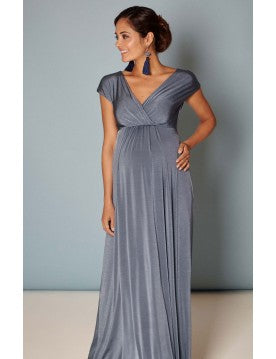 Tiffany Rose Maternity & Nursing Maxi Dress Francesca Steel Blue, Maternity Dresses Canada Nursing Dresses Canada,- Luna Maternity & Nursing