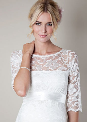 Tiffany Rose Amelia Maternity Lace Dress Ivory, Formal Maternity Dresses Toronto GTA Canada,- Luna Maternity & Nursing