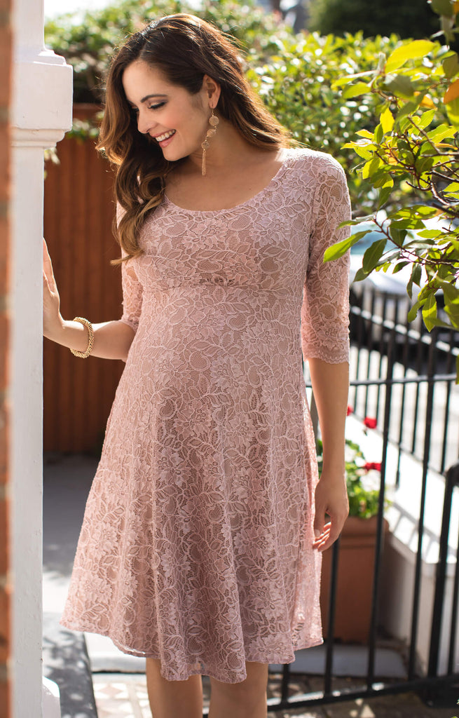 Tiffany Rose Maternity Lace Dress Freya Orchid Blush