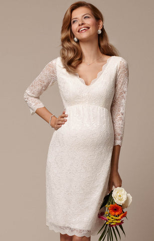 Tiffany Rose Ivory Lace Chloe Maternity Dress, Maternity Dresses Canada Nursing Dresses Canada,- Luna Maternity & Nursing