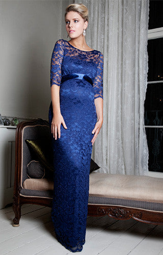 Tiffany Rose Long Lace Maternity Gown Amelia