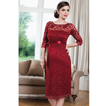 Tiffany Rose Amelia Lace Maternity Dress Moulin Rouge SALE - Size 6/8, Maternity Dresses Canada Nursing Dresses Canada,- Luna Maternity & Nursing