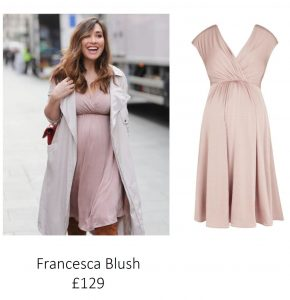 Tiffany Rose Maternity & Nursing Dress Francesca Blush, Maternity Dresses Canada Nursing Dresses Canada,- Luna Maternity & Nursing