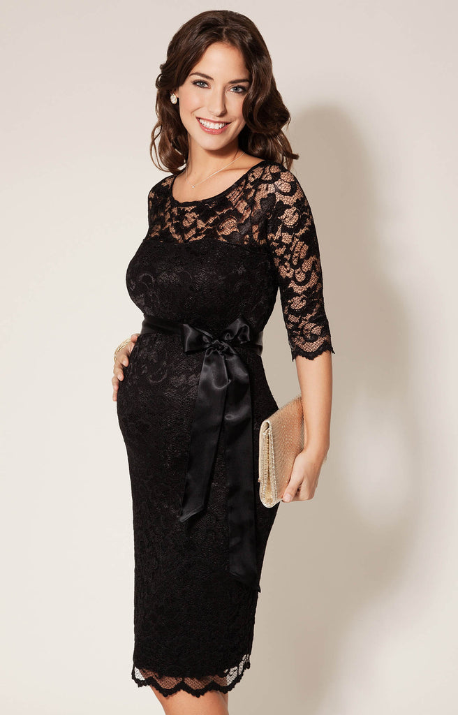 768d3cbd02 Tiffany Rose Formal Lace Black Maternity Dress Amelia