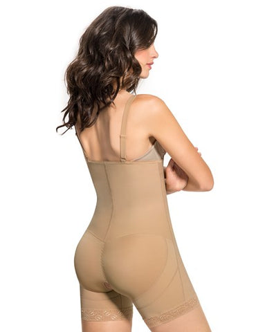 Leonisa Nursing Post Pregnancy Bodysuit  Shaper Short with Booty Lifter 018486, shapewear,- Luna Maternity & Nursing