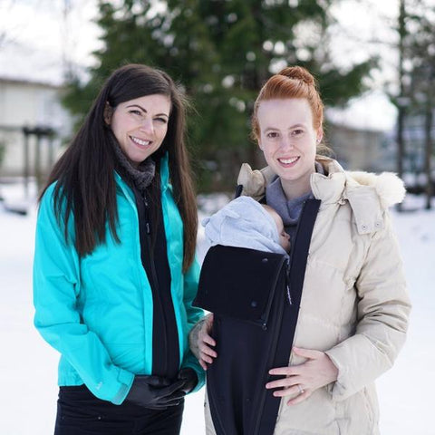 Make My Belly Fit Maternity Nursing & Post Pregnancy Universal Zip Adapter + Jacket Extender + Warm Layer, Maternity Coats Canada Pregnancy Babywearing Jackets Toronto Alberta,- Luna Maternity & Nursing