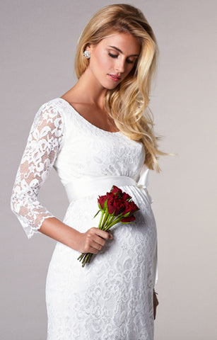 Maternity bridal canada best selection of pregnancy wedding dresses tiffany rose ivory lace maternity dress katie junglespirit Gallery