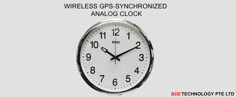 GPS Synchronized Analog Clock, Wireless Clock