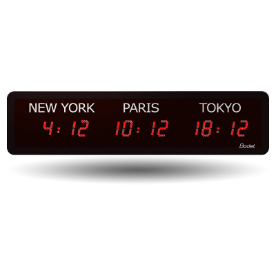 World Timezone LED Digital Clock
