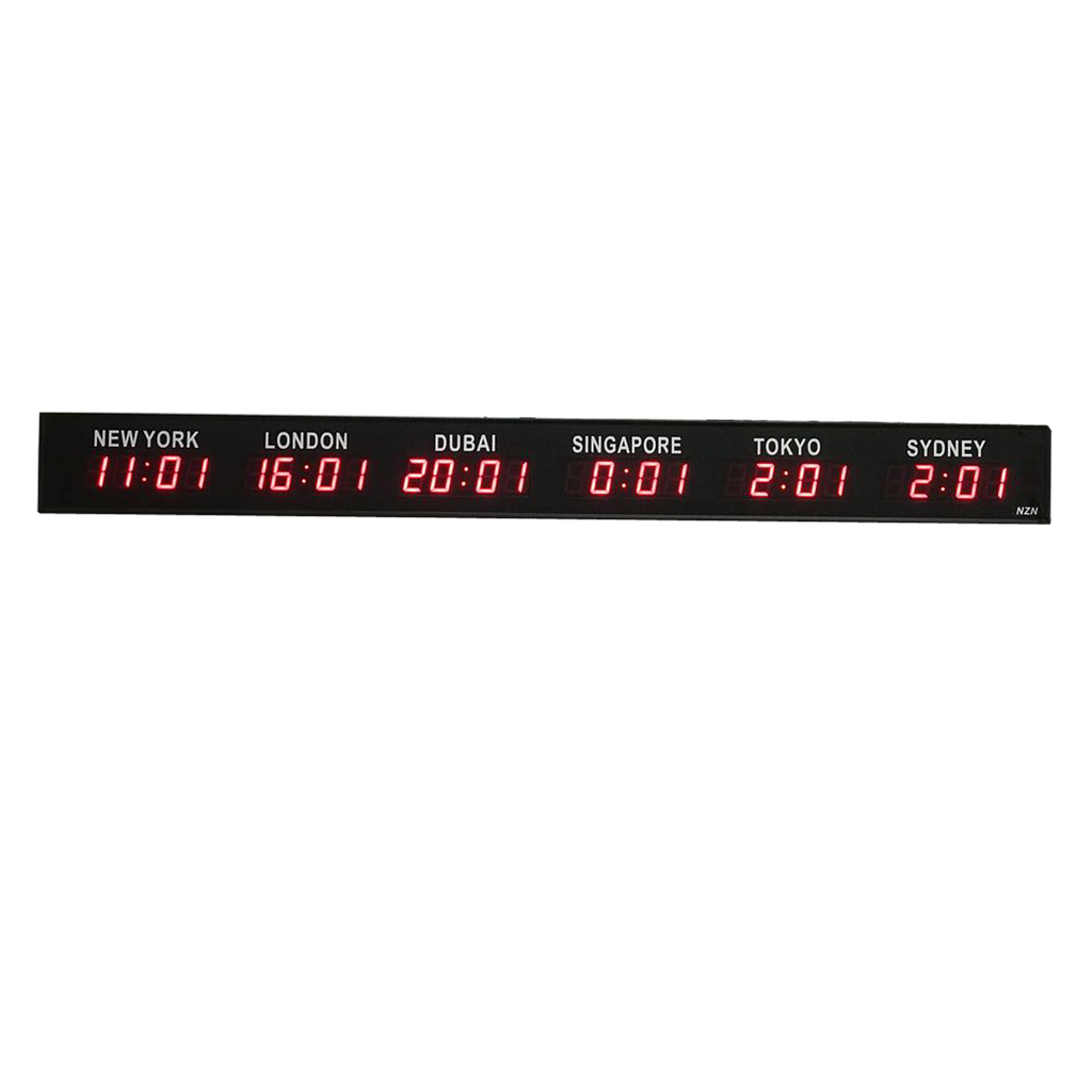 Standalone World Timezone LED Digital Clock
