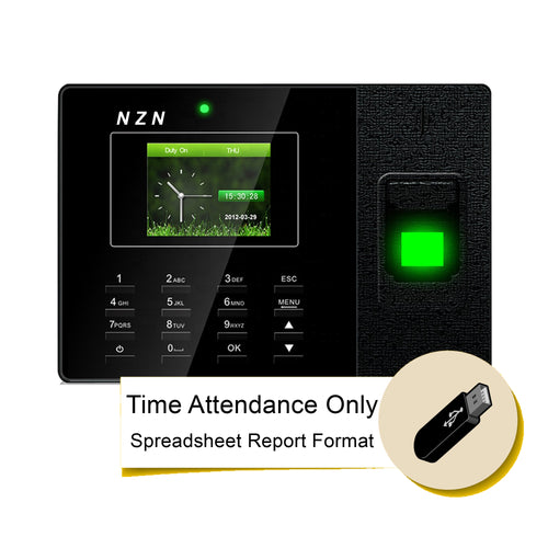 Time Attendance Reader, Fingerprint Reader, Facescan, Reader, Biometric, Excel Report for Attendance