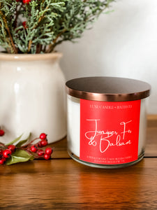 Juniper Fir & Balsam 3 Wick Candle