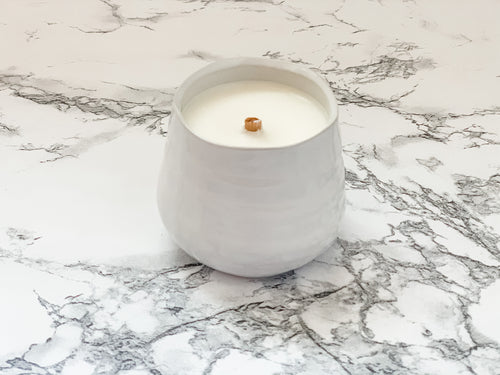 Iris + Ginger - White Pinched Ceramic - Mindfulness Collection