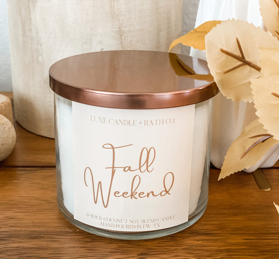 Fall Weekend (3 Wick Candle)